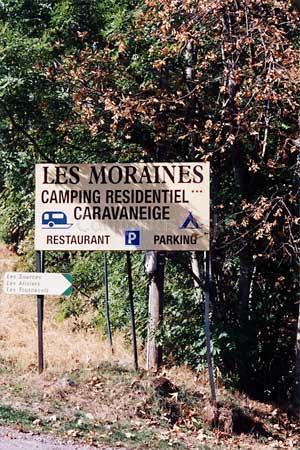 Campsite Les Moraines